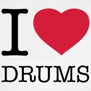 I LOVE DRUMS T-Shirts - Baseball Cap