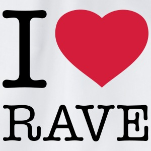 I LOVE RAVE - Turnbeutel