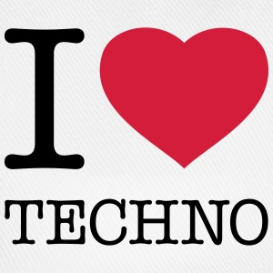 I LOVE TECHNO - Baseballkappe