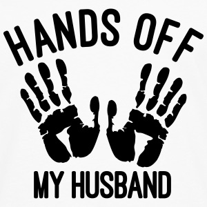 hands off my husband Tops - Männer Premium Langarmshirt