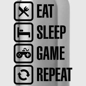 Eat sleep game repeat T-shirts - Drinkfles