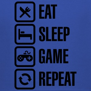 Eat sleep game repeat T-shirts - Kinderen trui Premium met capuchon