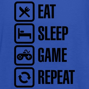 Eat sleep game repeat Shirts - Women's Tank Top by Bella