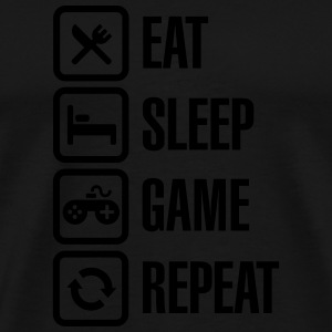 Eat sleep game repeat Pullover & Hoodies - Männer Premium T-Shirt