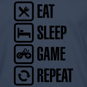 Eat sleep game repeat Tee shirts - T-shirt manches longues Premium Homme