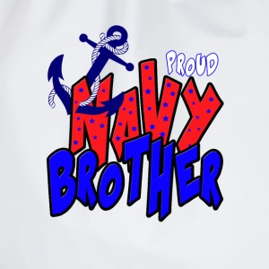 Proud Navy Brother T-Shirts - Drawstring Bag