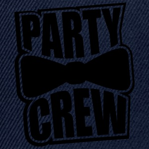 Party Crew stämpel utformning CoolTeam vänner fira T-shirts - Snapbackkeps