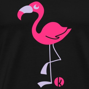 Flamingo (2c) Topper - Premium T-skjorte for menn