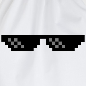 Pixel Brille Thug Life Gangster  T-Shirts - Turnbeutel