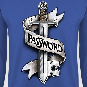 Koningsblauw PasSword Shirts - Mannen sweater