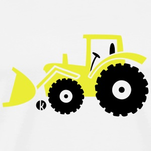Tractor front loader Bulldog wheel loader with bucket Manches longues - T-shirt Premium Homme
