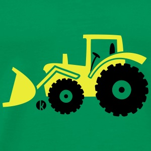 Tractor front loader Bulldog wheel loader with bucket Sacs et sacs à dos - T-shirt Premium Homme