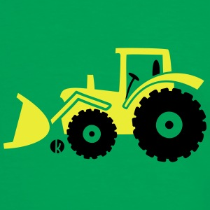 Tractor front loader Bulldog wheel loader with bucket Väskor & ryggsäckar - Kontrast-T-shirt herr