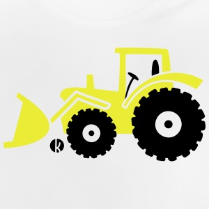 Tractor front loader Bulldog wheel loader with bucket Magliette - Maglietta per neonato