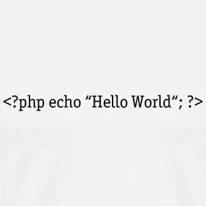 PHP Hello World Toppar - Premium-T-shirt herr