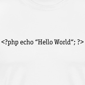 PHP Hello World Sweat-shirts - T-shirt Premium Homme