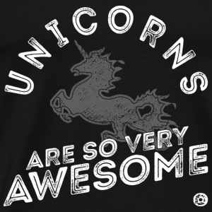 Unicorns Are Awesome weiß Tops - Männer Premium T-Shirt