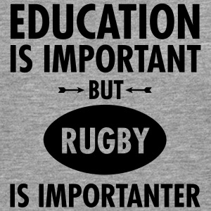Education Is Important But Rugby Is Importanter Koszulki - Koszulka męska Premium z długim rękawem