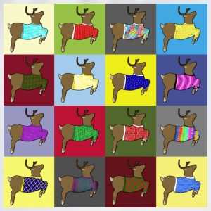16 reindeer sweater T-shirts - Gymnastikpåse
