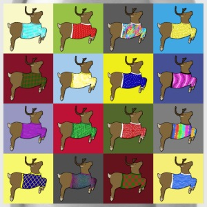 16 reindeer sweater Camisetas - Cantimplora