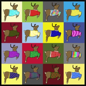 16 reindeer sweater Manga larga - Camiseta bebé