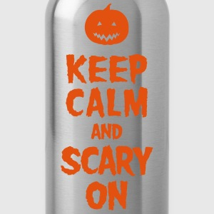 Keep Calm And Scary On T-skjorter - Drikkeflaske