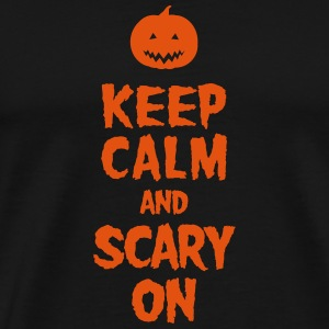Keep Calm And Scary On Vesker & ryggsekker - Premium T-skjorte for menn