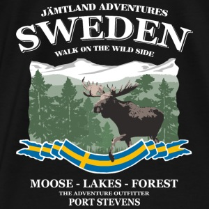 Sweden - Moose, Lakes & Forest Pullover & Hoodies - Männer Premium T-Shirt