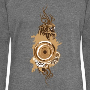 Circles&Panther-Brown T-Shirts - Women's Boat Neck Long Sleeve Top