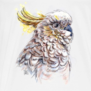 White Cockatoo bird Bags & Backpacks - Men's Premium T-Shirt