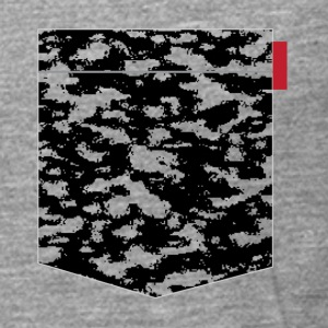 Black Snow Camo Patch T-Shirts - Men's Premium Longsleeve Shirt