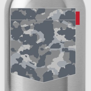 Digital Urban Camo Patch T-Shirts - Water Bottle