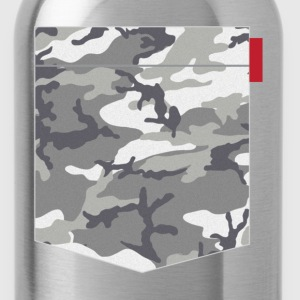Grey Urban Camo Pocket T-Shirts - Water Bottle