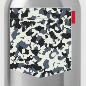 Navy Camo Pocket Patch T-Shirts - Water Bottle