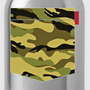 Green Yellow Camo Patch T-Shirts - Water Bottle