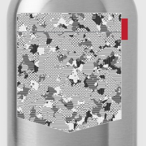 B&W Digital Camo Patch T-Shirts - Water Bottle