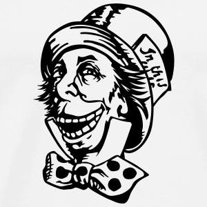 Mad hatter troll face Long sleeve shirts - Men's Premium T-Shirt