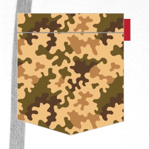 Brown Orange Camo Pocket Patch T-Shirts - Men's Premium Hoodie