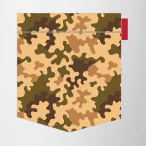 Brown Orange Camo Pocket Patch T-Shirts - Mug
