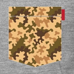 Brown Orange Camo Pocket Patch T-Shirts - Men's Premium Longsleeve Shirt
