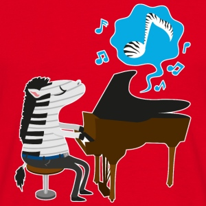 Rouge A zebra playing the piano Bouteilles et Tasses - T-shirt Homme
