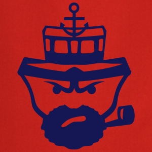 Person sailor pipe beard anchor boat T-Shirts - Cooking Apron