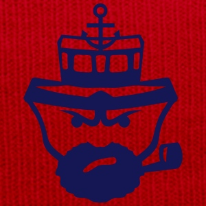 Person sailor pipe beard anchor boat T-Shirts - Winter Hat