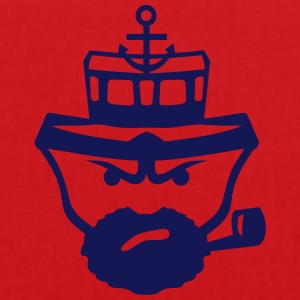 Person sailor pipe beard anchor boat T-Shirts - Tote Bag
