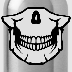 Low skull tooth 29 Shirts - Water Bottle