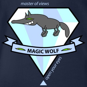 Magic Wolf Shirts - Organic Short-sleeved Baby Bodysuit