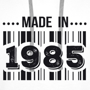 Made in 1985 Tee shirts - Sweat-shirt à capuche Premium pour hommes