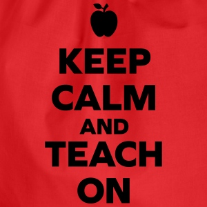 Keep Calm Teach On T-Shirts - Drawstring Bag