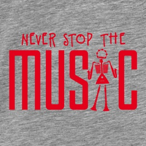 never_stop_the_music_102015b_1c Accessoires - Männer Premium T-Shirt