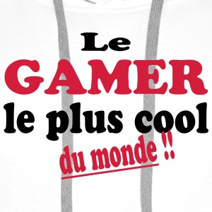 Le gamer le plus cool du monde Skjorter - Premium hettegenser for menn